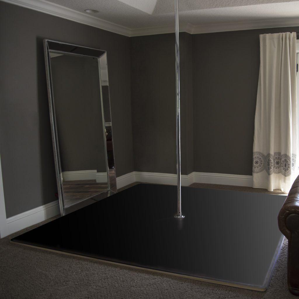 Floating Pole Dance Floor Black